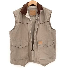 Powder River | Tan Lined Vest w/ Corduroy Collar